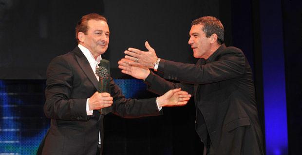 Antonio Banderas con Juan Diego Ruiz